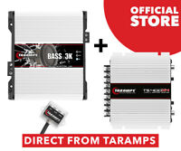 Taramps Bass 3k 3000 Watts 1 Ohm + TS 400x4 2 Ohms Amplifier DIRECT FROM TARAMPS