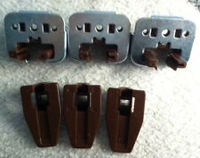 3 New Kenlin Rite-Trak Dresser Drawer Guide Glide w/ Metal Bracket & Stop