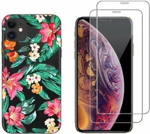 iPhone 11 - Coque fantaisie de qualité + 2 Films protection écran verre trempé
