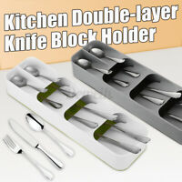 Cutlery Spoon Fork Tray Insert Utensil Divider Organizer Kitchen Drawer Compact