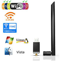 1300Mbps Wireless USB Ethernet PC WiFi Adapter Lan 802.11AC Dual Band 2.4G / 5G