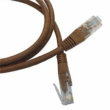 20M (65.6ft) Cat5e Marrón Cable Ethernet RJ45 Red LAN Parche de plomo 100% de cobre
