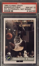 New listing 1992 CLASSIC DRAFT SHAQUILLE O'NEAL RC NTL - NOT SIGNED PSA 10 GEM MINT