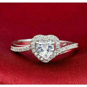 14k White Gold Beautiful Halo Engagement & Wedding Promise Ring 1.78 Ct Diamond