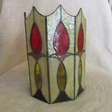 Stained Glass Pillar Candle Holder