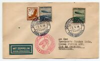 ZEPPELIN MAIL -  01.04.1936 - ZEPPELIN HINDENBURG FIRST FLIGHT TO SOUTH  AMERICA
