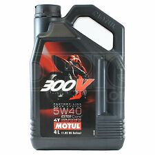 Motul 300V 4T Factory Line 5W-40 Motorcycle Engine Oil Ester Synth 4 Litre 4L