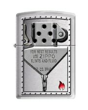 Zippo 0127, Zippo Insides, Brushed Chrome Finish Lighter, Full Size