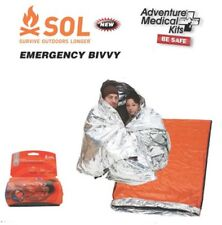 Emergency Bivvy Blanket 2 Person Sleeping Bag Survival Hiking Camping Outdoors