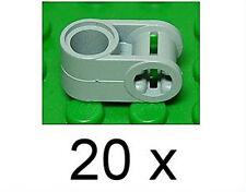 LEGO Technik - 20 connettore 90 gradi Foro/achsloch grigio chiaro/6536 Merce Nuova