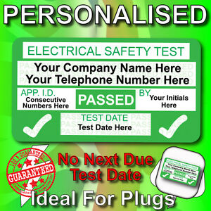 NEW 4th Edition Personalised PASSED PAT Test Labels / Stickers - BEST ON EBAY!