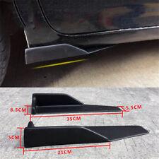 2Pcs Black Car Side Skirt Rocker Splitters Winglet Shovel Anti-Scratch Winglet