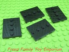 LEGO New Lot of 4 Minifig DISPLAY PLATES 3x4 Black Stand Series 17 18 19