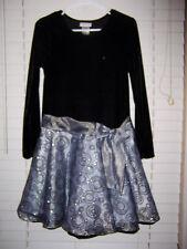 Ashley Ann Dress Girl's Size 16 Black Gray Silver