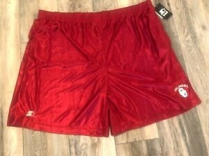 Nwt's Starter Oklahoma Sooners Basketball Shorts 4xl/5xl Brand New