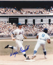 WAYNE GARRETT   NEW YORK METS    ACTION SIGNED 8x10