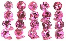 NATURAL ROUND-CUT PINK SAPPHIRE GEMSTONES LOOSE 10 piece - 2.2 to 2.6 mm AAA LOT