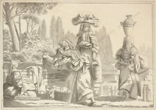 """Attributed to Jacques Sablet (1749-1803) """"Italian Laundresses"""", drawing"""