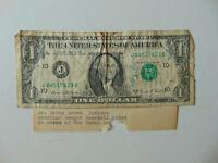 "RARE! ""New York Yankees"" Bobby Brown Hand Signed U.S. $1 Bill Todd Mueller COA"