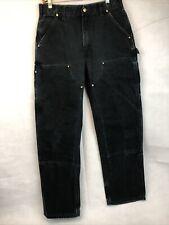 Carhartt Double Knee Pants Size 32x32 Denim Black Jeans Usa