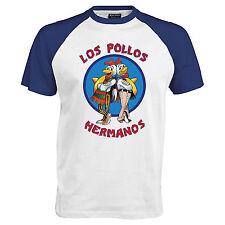 Los Pollos Hermanos Inspired Breaking MenT Shirt Bad Heisenberg Baseball Tshirt