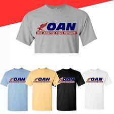 OAN Shirt One America News Network T-Shirt Cotton Sport Grey Mutilcolor Tee