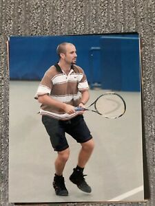 Tennis Superstar Andre Agassi 8x10 photo