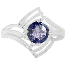 1.3cts Iolite 925 Sterling Silver Ring Jewelry s.6 R5087I-6