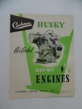 1949 Cushman Husky Air Cooled Scooter Engine Catalog Brochure M6 M7 M8 Vintage