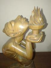 Agni Holrta fire Pita Maha Fine Art Deco Wood Sculpture Mas Bali signed Muna