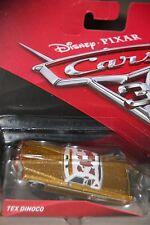 "DISNEY PIXAR CARS 3  ""TEX DINOCO""  NEW IN PACKAGE, SHIP WORLDWIDE"