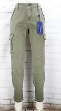 NWT VIGOSS Jagger Cargo Skinny Ankle Pants Womens W31 L29 Olive Green Stretch