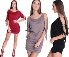 Minikleid Tunika Longshirt mit Pailletten & Raffungen Gr. XS S M L XL 2XL 3XL
