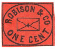 (I.B) US Local Post : Robison & Co 1c