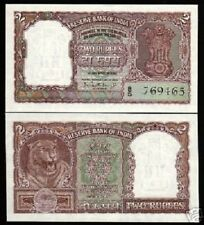 INDIA 2 RUPEES P30 1962 ASHOKA TIGER UNC PCB INDIAN CURRENCY MONEY BILL NOTE
