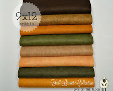 "FALL LEAVES Felt Collection, Merino Wool Blend Felt, EIGHT 9"" X 12"" Sheets"