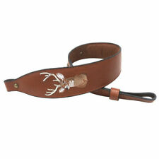 Tourbon Leather Rifle Sling Strap - Brown