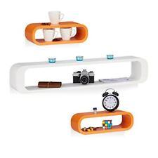 Relaxdays Étagère Tablette flottante murale forme Rectangle Cube Design