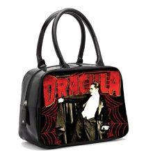 Rock Rebel Bela Lugosi Dracula Web Black Bowler Bag Vegan