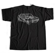 Old Skool Hooligans Austin Allegro T Shirt - Hot Rod Rat Rod Custom Car Sketch