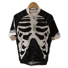 Mens Cycling Jersey MTB Road Bike Pro Team Shirt Bicycle Riding Skeleton Tops XL