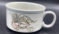 Vintage Otagiri Soup Cup Mug Bowl Seashells Shell Nautical Ocean Stoneware Japan