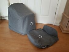 Bugaboo Donkey grey melange hood and apron Extending Canvas fabric only !
