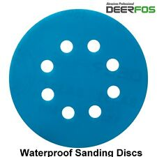 125mm Sanding Discs Wet and Dry Orbital Sandpaper Hook & Loop Pads Grit 40-3000