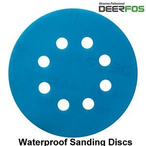 125mm Sanding Discs Wet and Dry Orbital Sandpaper Hook & Loop Pads Grit 40-3000