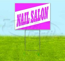 Nail Salon 18x24 Yard Sign With Stake Corrugated Bandit Usa Business Beautician