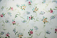 SMALL FLOWERS ON WHITE BY DENA FOR IN THE BEGINNING FABRICS - 100% COTTON FABRIC