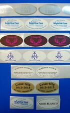 """250 Printed Oval Labels Custom Business Stickers 1-Color Ink,  1-1/4"""" x 2-1/2"""""""