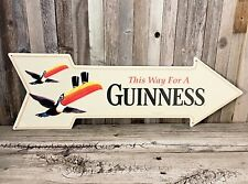 Guinness Beer 27 Arrow Metal Tin Sign Large Vintage Style Garage Man Cave New