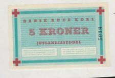 More details for 1952 denmark red cross korea war 5 kroner banknote in near mint condition.